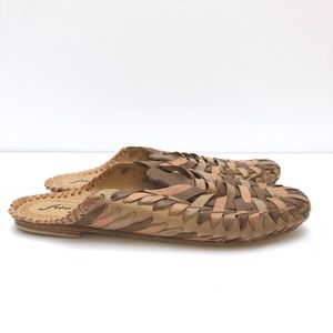 NEW Free People Woven Leather Mules